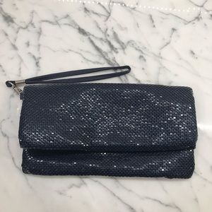 La Regale sparkly gold over clutch